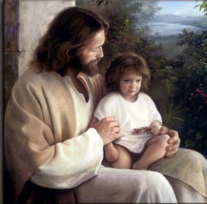 Jesus with a little one (Photobucket.com)