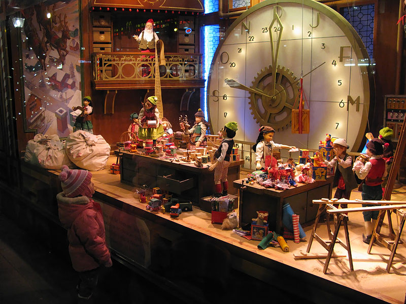 Christmas Window Display, The Bay Department Store, Toronto from Wikimedia Commons